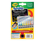Neon Dry Erase Crayons, 8 Count Front View of Box