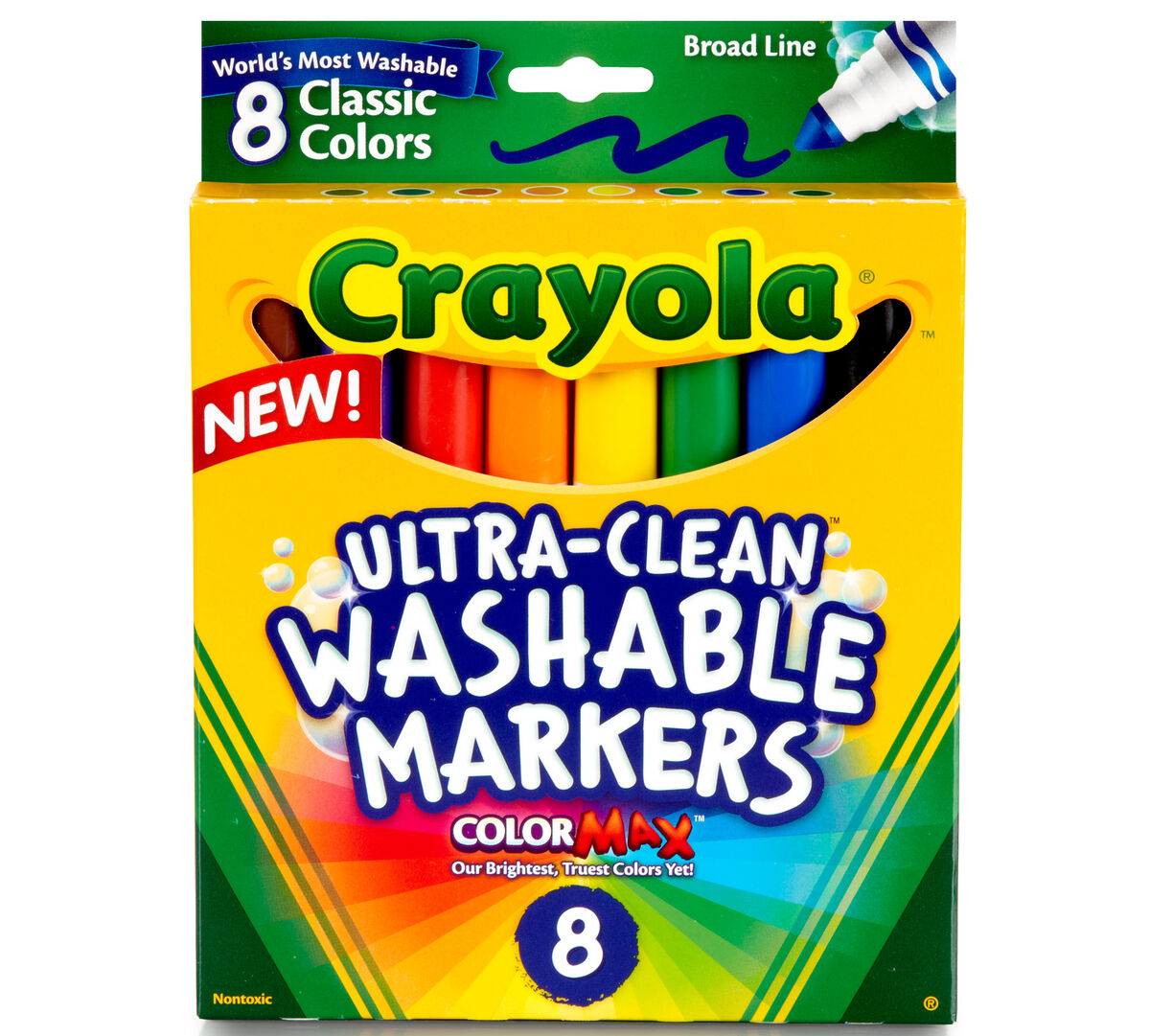 Ultra Clean Washable Markers Broad Line 8 Ct Crayola