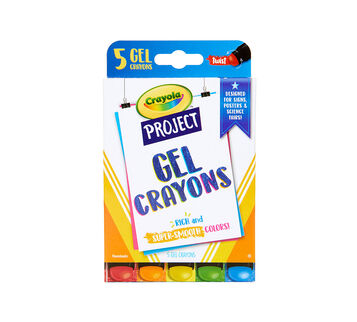 Crayola Project Gel Crayons, 5 Count Front View