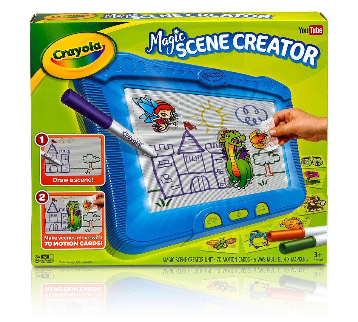 Crayola Magic Scene Creator, Creative Activity Toy, Turn Pictures ...