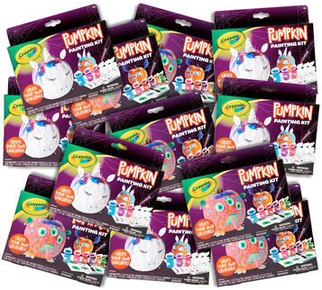 Halloween Pumpkin Painting Asst Set of 12