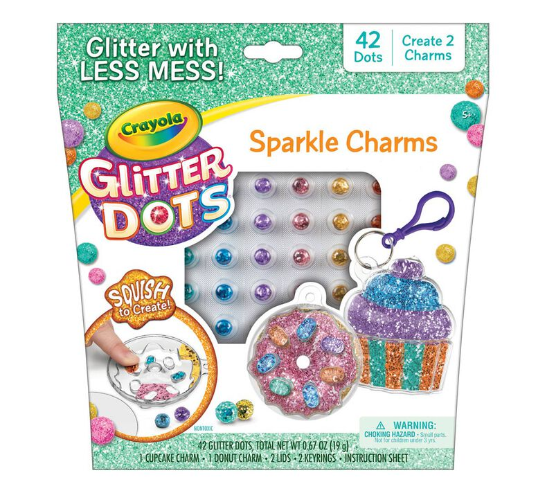 Glitter Dots Sparkle Charms