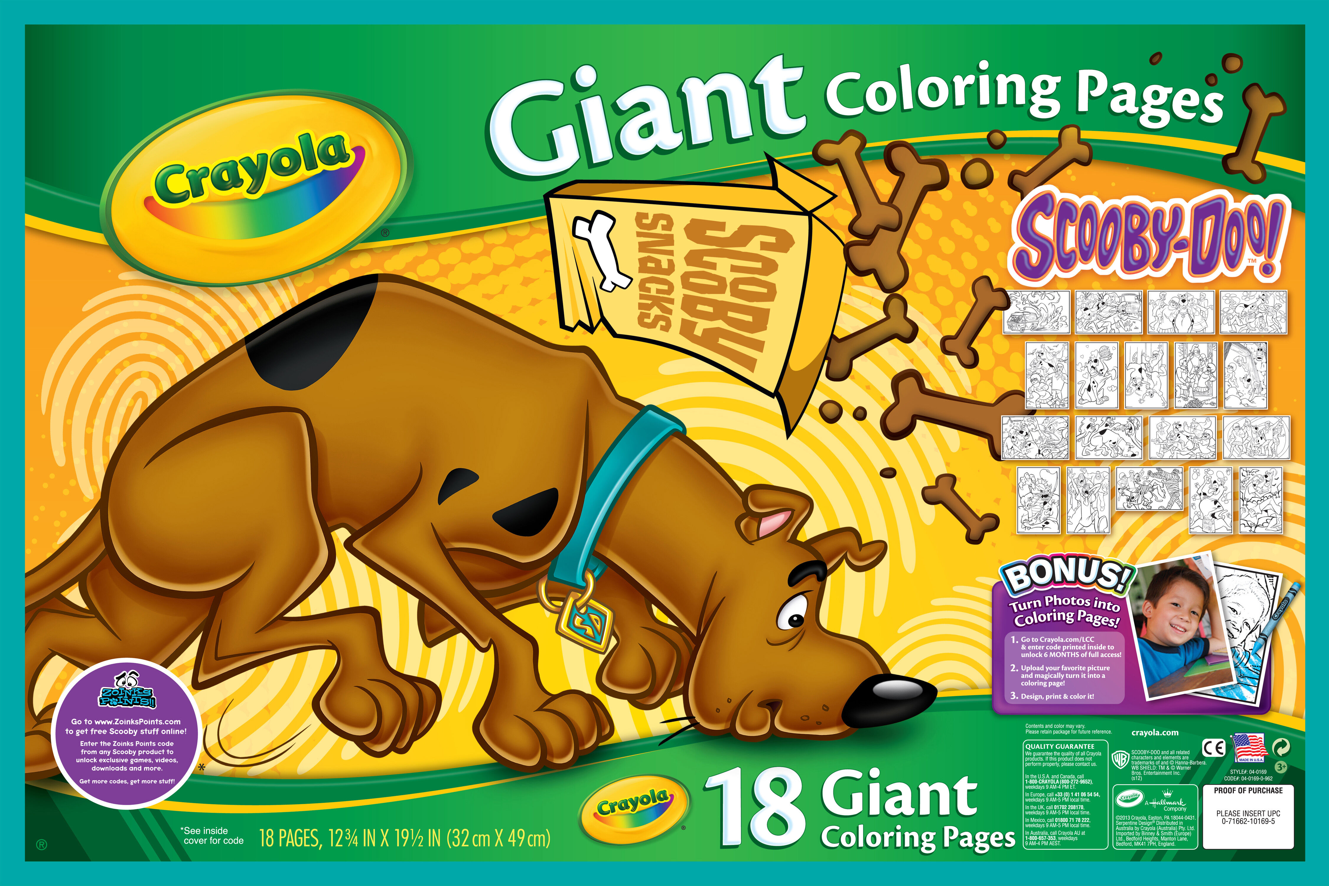 Giant Coloring Pages - Scooby Doo Crayola