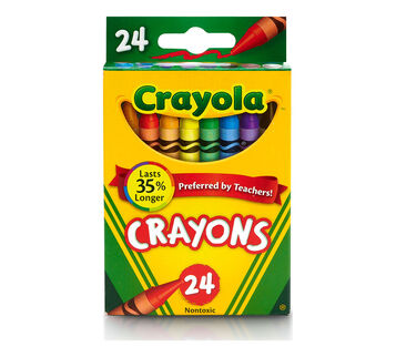 24 count Crayons front of package