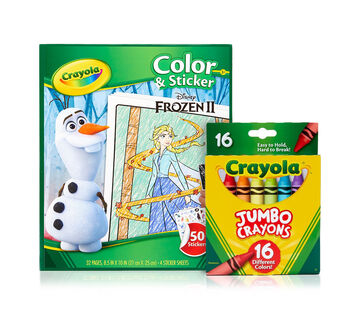 Frozen 2 Color & Sticker Book with Jumbo Crayons