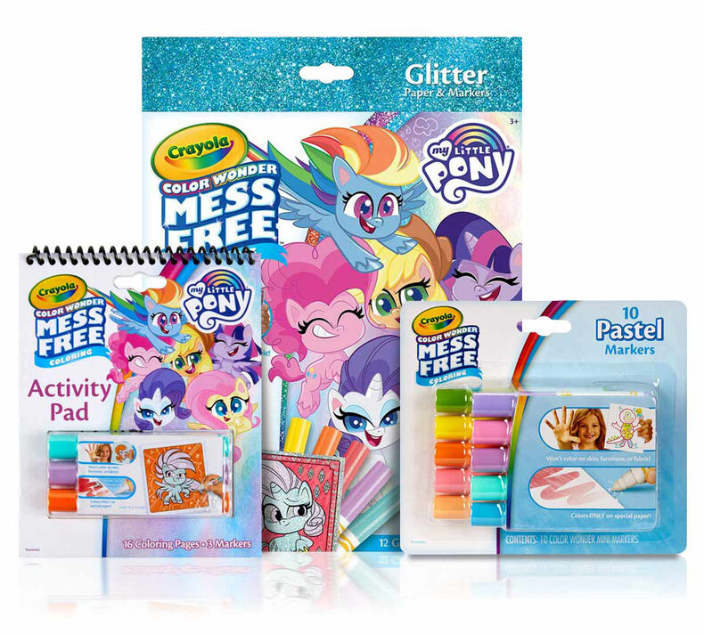 3-in-1 Color Wonder Mess Free My Little Pony Coloring Gift Set