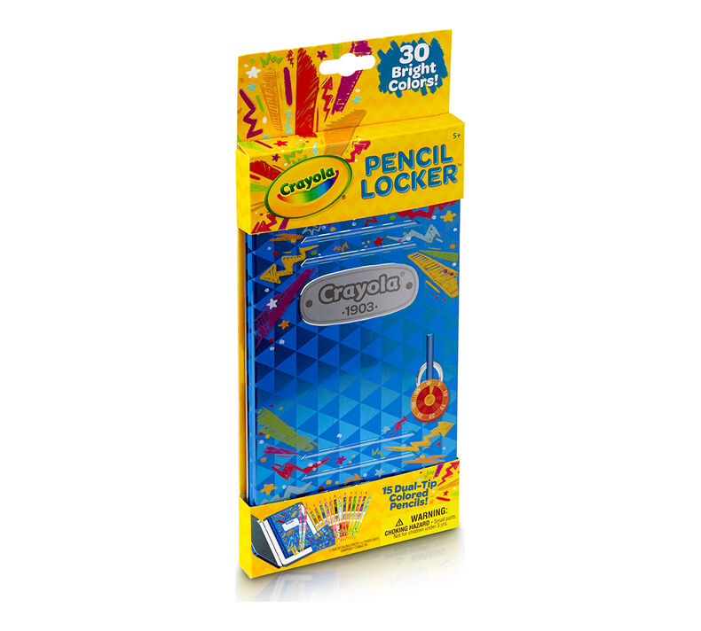 Colored Pencils Tin Locker