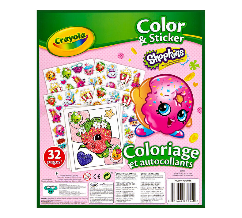Shopkins Coloring and Sticker Book