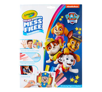 Color Wonder Mess Free Paw Patrol Coloring Pages & Markers Front View