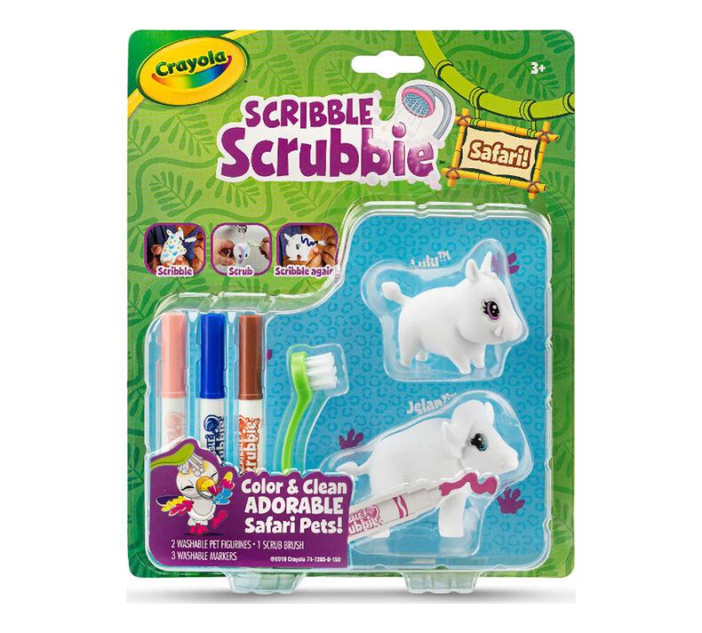 Scribble Scrubbie Safari Animals, Warthog & Buffalo, 2 Count