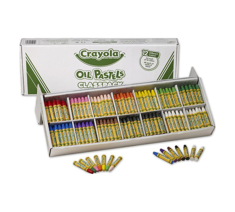 Oil Pastel, 336 Count, 14 Colors