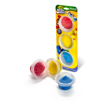 Model Magic in Reusable Containers, Primary Colors, 3 Count