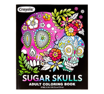 Sugar Skulls Adult Coloring Book Front View