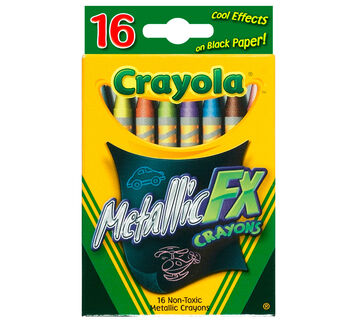 Metallic FX Crayons - Regular Size 16 ct.