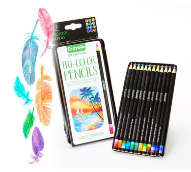 Crayola Tri-Shade Colored Pencils with Decorative Tin