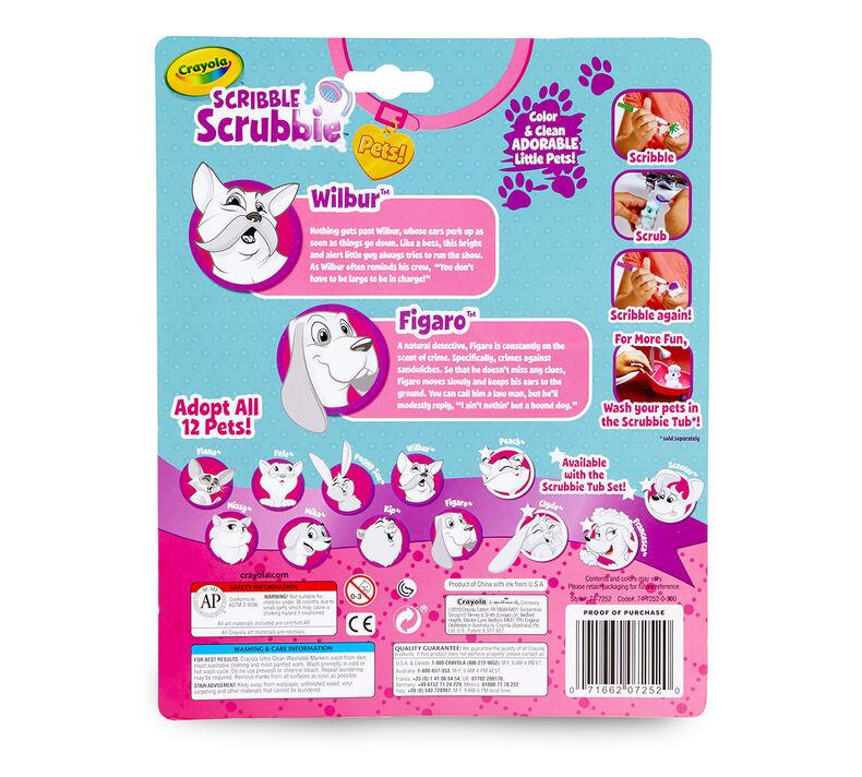 Scribble Scrubbie Pets, Dogs, 2 Count