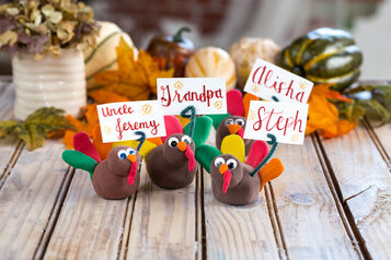 Model Magic Turkey Place Cards