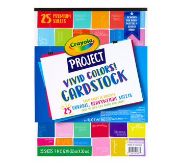 Vivid Colors Cardstock Front View