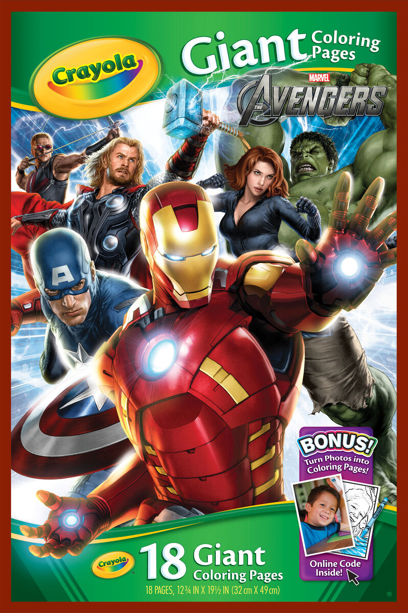 Giant Coloring Pages - Avengers