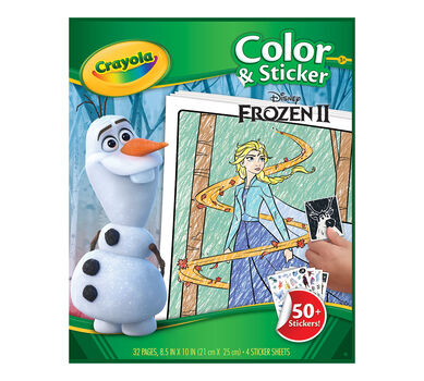 Frozen 2 Color & Sticker Book