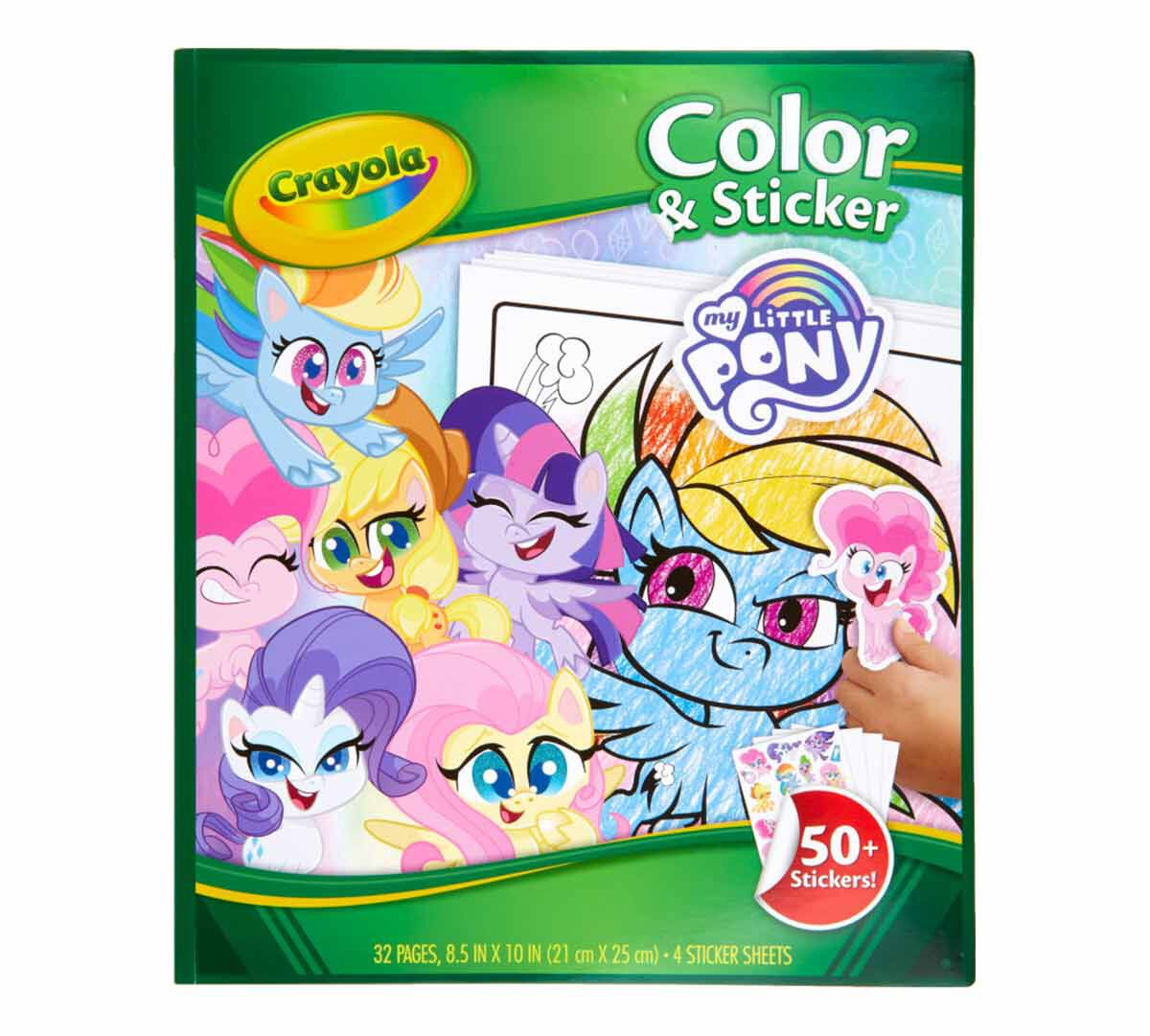 Crayola My Little Pony Color And Sticker Book Crayola