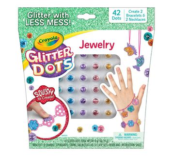 Glitter Dots DIY Jewelry Kit Front of Box