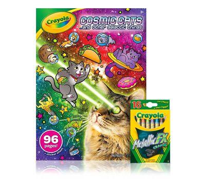 Cosmic Cats Coloring Book and Crayons | Crayola.com | Crayola