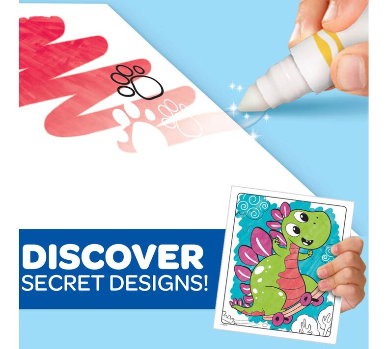 Color Wonder Mess Free Prehistoric Pals Dinosaur Coloring Pages & Markers