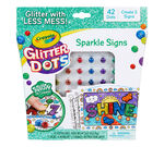 Glitter Dots Sparkle Signs Front of Box View