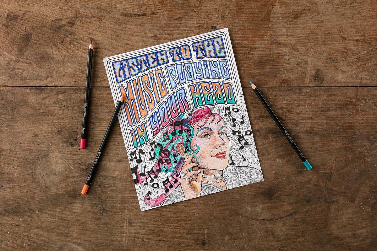 Lennon and McCartney Lyrics Coloring Book | Crayola com | Crayola