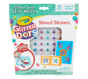 Glitter Dots Stencil Stickers Front View