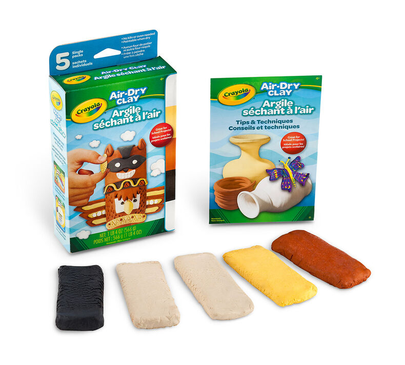 Air Dry Clay Variety Pack For Clay Crafts Crayola Com Crayola