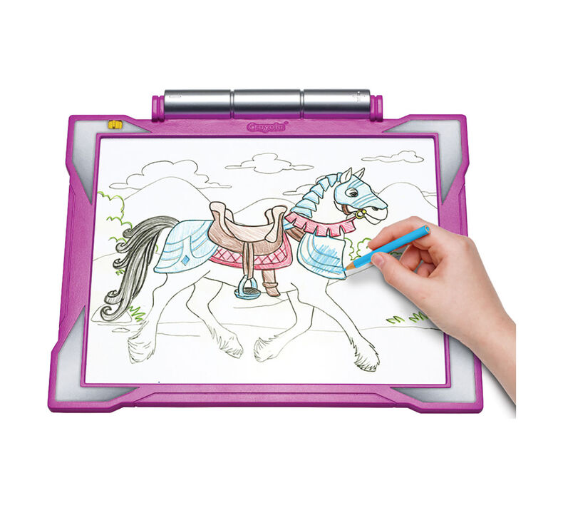 Pink Light Up Tracing Pad Gift Set