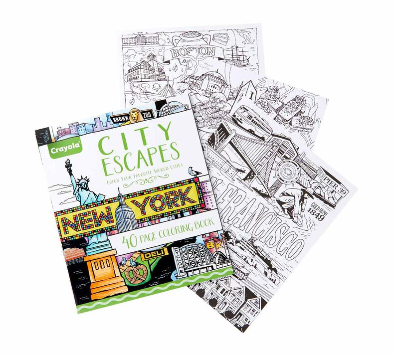 City Escapes Around the World Coloring Pages