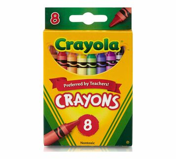 Crayons, 8 Count Front View of Box