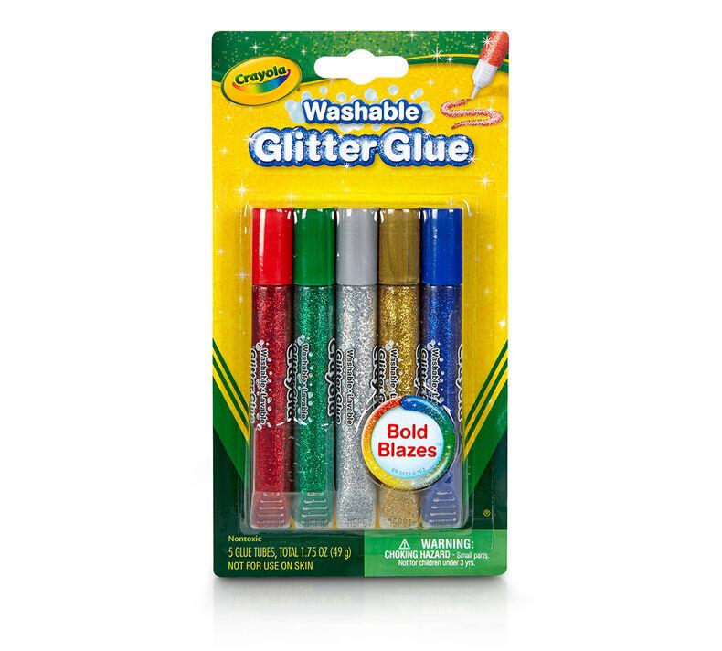 Washable Glitter Glue, Bold, 5 Count
