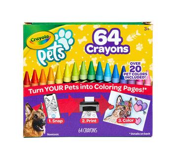 Pets, Camera, Color! Crayons, 64 Count