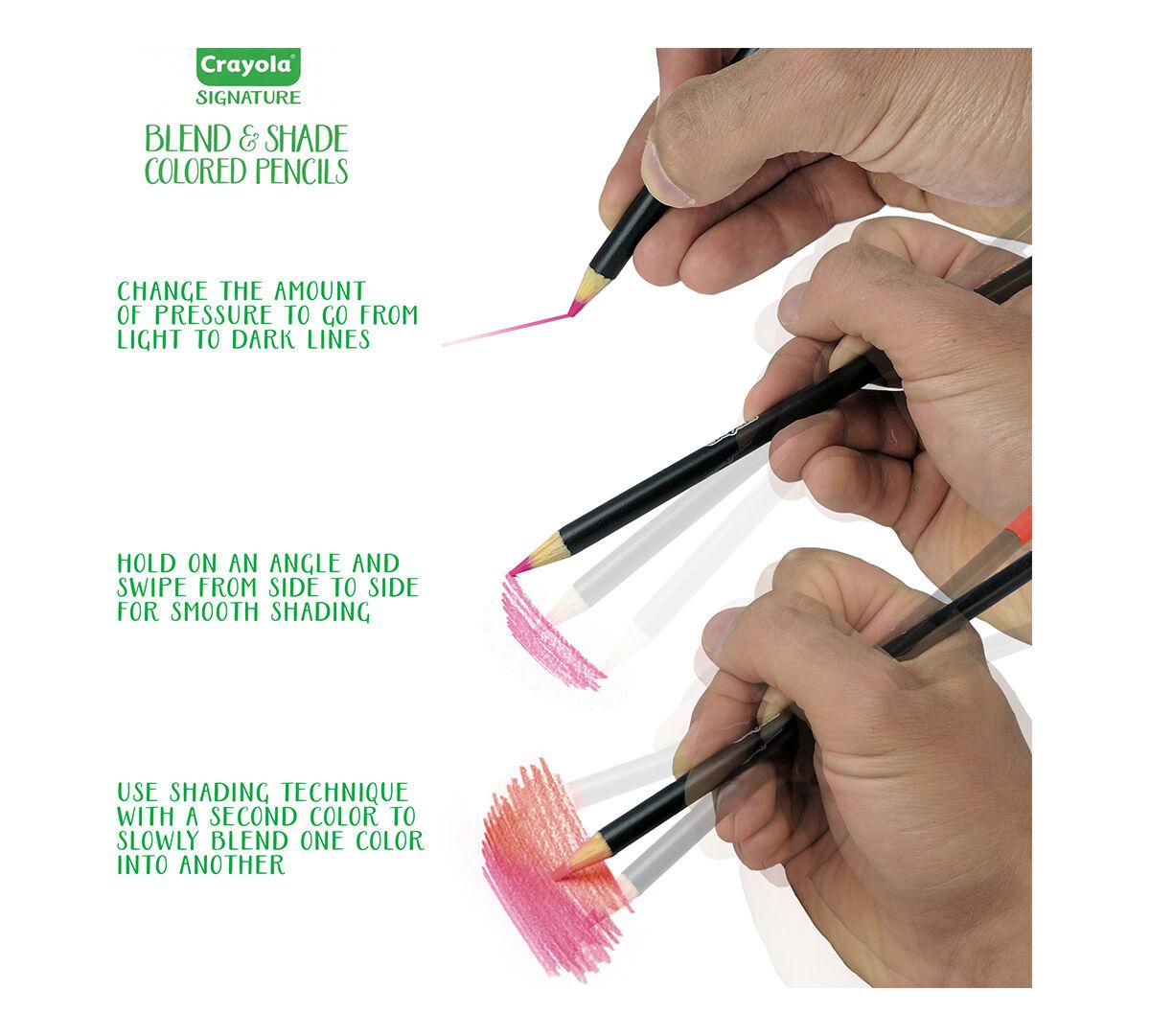 crayola signature blend shade colored pencils 24 ct storage tin