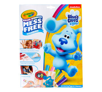 Color Wonder Mess Free Blue's Clues & You Coloring Set Front View