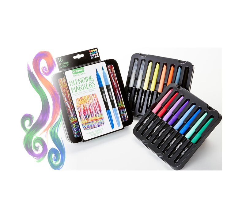 Signature Blending Markers with Tin, 16 Count