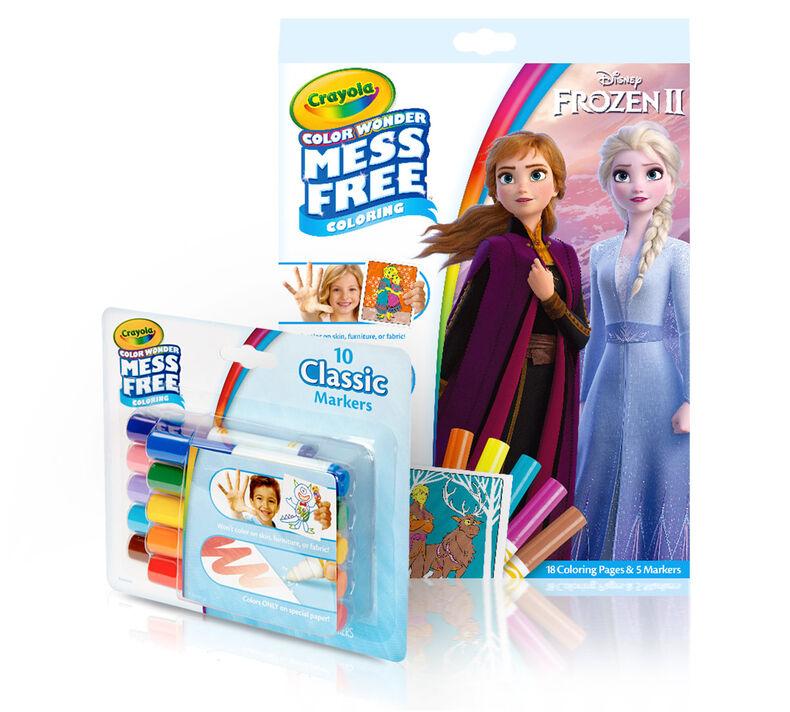 Color Wonder Mess Free Frozen 2 Coloring Pages & Marker Set