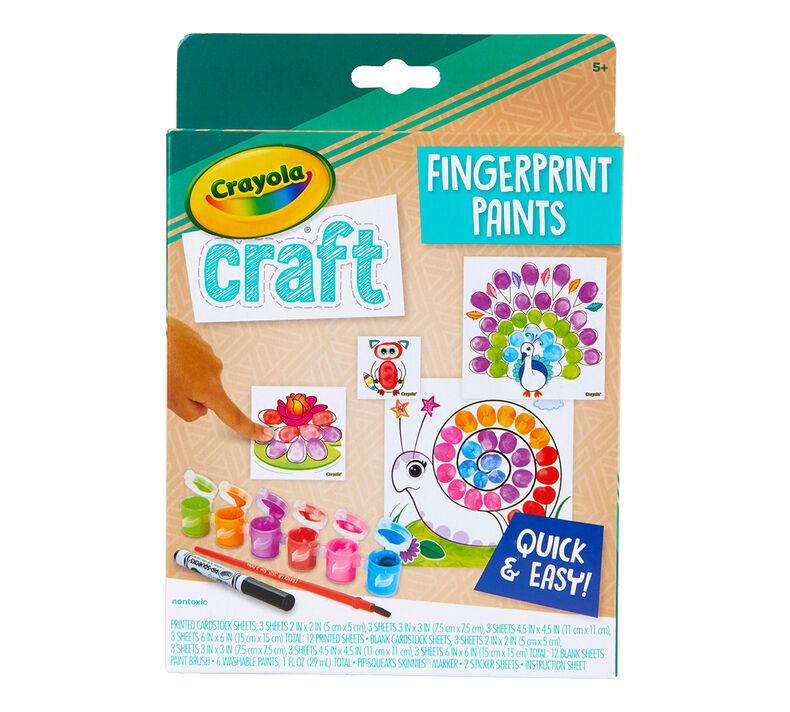 Crayola Craft Fingerprint Paints Paint Set