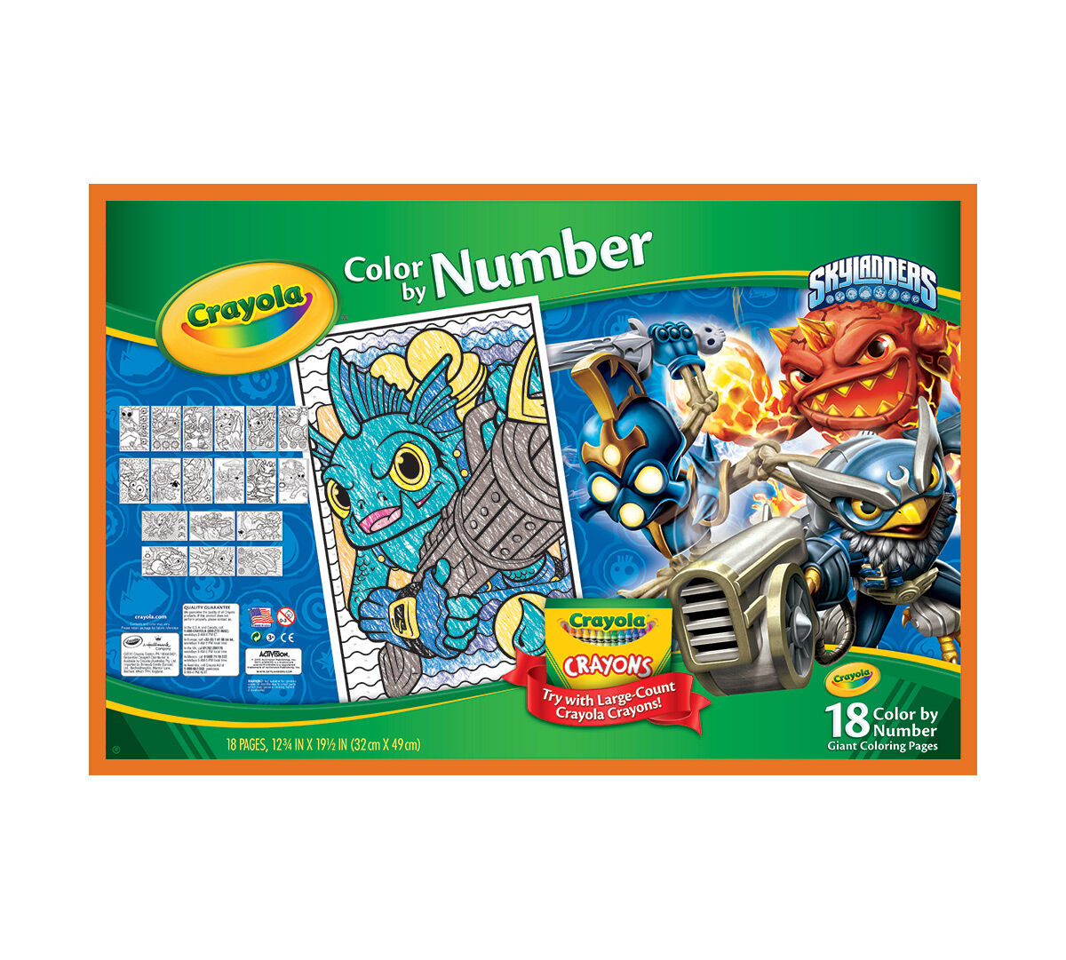 Color by Number, Skylanders - Crayola
