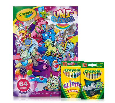 Unicorn Coloring Book Pages and Crayons | Crayola.com | Crayola
