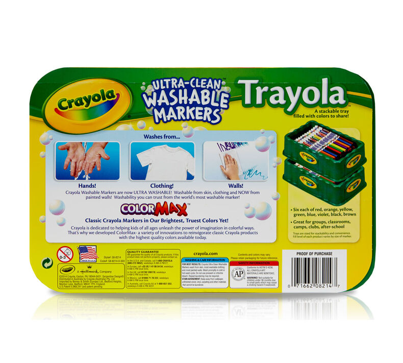 Ultra-Clean Markers, Fine Line, Trayola, 48 Count, 8 Colors