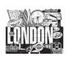 City Escapes Coloring Book London line art