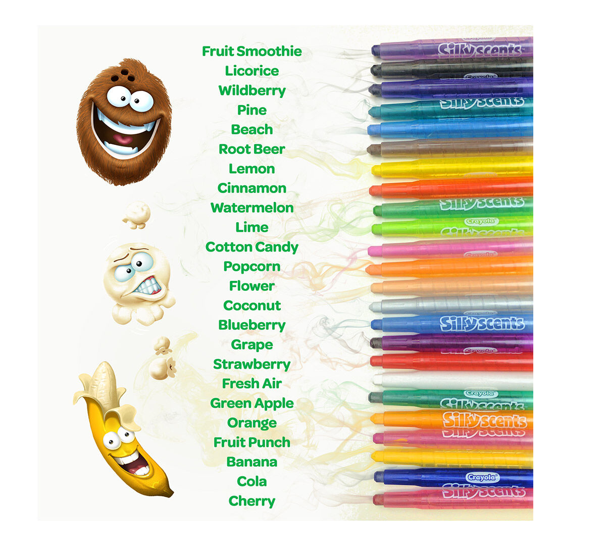 Crayola Silly Scents Crayons, 24 count, Scented Art Tools, Assorted ...