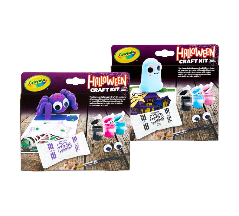 Halloween Spider & Ghost Craft Kits, Set of 12