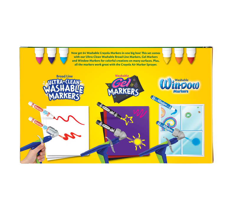 Washable Markers Variety Pack, 64 Count