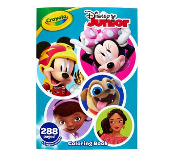 Disney Junior Coloring Book with Stickers, 288 Pages